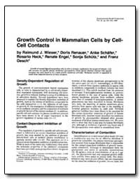 Growth Control in Mammalian Cells by Cel... by Wieser, Raimund J.