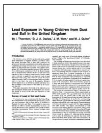 Lead Exposure in Young Children from Dus... by Davies, D. J. A.