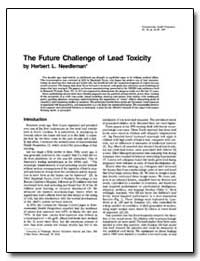The Future Challenge of Lead Toxicity by Needleman, Herbert L.