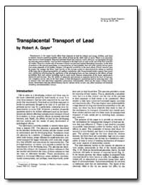 Transplacental Transport of Lead by Goyer, Robert A.