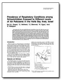 Prevalence of Respiratory Conditions Amo... by Goren, Ayana I.