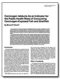 Carcinogen Adducts as an Indicator for t... by Dunn, Bruce P.