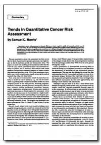 Trends in Quantitative Cancer Risk Asses... by Morris, Samuel C.
