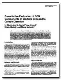 Quantitative Evaluation of Ecg Component... by Kamal, Abdel-Aziz M.