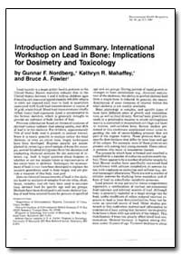 Introduction and Summary. International ... by Nordberg, Gunnar F.