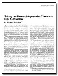 Setting the Research Agenda for Chromium... by Gochfeld, Michael