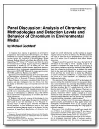 Panel Discussion : Analysis of Chromium ... by Gochfeld, Michael