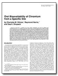 Oral Bioavailability of Chromium from a ... by Witmer, Charlotte M.