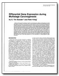 Differential Gene Expression during Mult... by Bowden, G. Tim