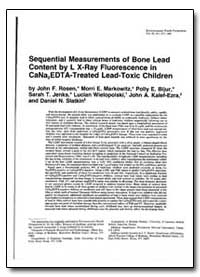Sequential Measurements of Bone Lead Con... by Rosen, John F.