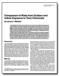 Comparison of Risks from Outdoor and Ind... by Wallace, Lance A.