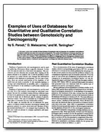 Examples of Uses of Databases for Uantit... by Malacarne, D.
