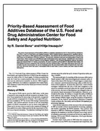 Priority-Based Assessment of Food Additi... by Benz, R. Daniel