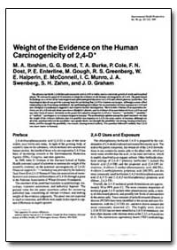Weight of the Evidence on the Human Carc... by Ibrahim, M. A.