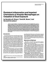 Persistent Inflammation and Impaired Che... by Brown, David M.