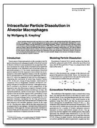 Lntracellular Particle Dissolution in Al... by Kreyling, Wolfgang G.