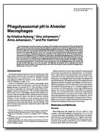 Phagolysosomal Ph in Alveolar Macrophage... by Nyberg, Kristina