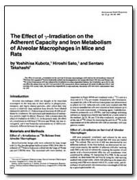 The Effect of Rlrradiation on the Adhere... by Kubota, Yoshihisa