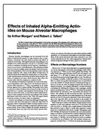 Effects of Inhaled Alpha-Emitting Actini... by Talbot, Robert J.