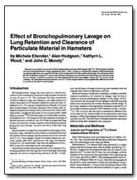 Effect of Bronchopulmonary Lavage on Lun... by Ellender, Michele