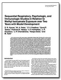 Sequential Respiratory, Psychologic, And... by Patel, M. H.