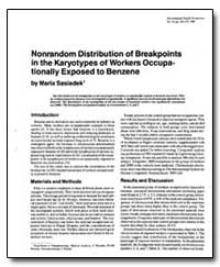 Nonrandom Distribution of Breakpoints in... by Sasiadek, Maria