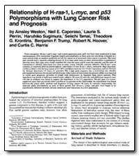 Relationship of H-Ras-I, L-Myc, And P53 ... by Weston, Ainsley