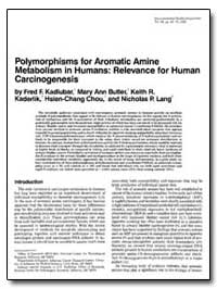 Polymorphisms for Aromatic Amine Metabol... by Kadlubar, Fred F.