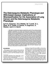 The Debrisoquine Metabolic Phenotype and... by Caporaso, N. E.