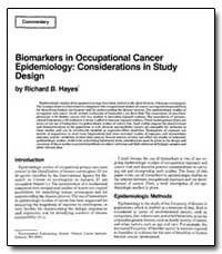 Biomarkers in Occupational Cancer Epidem... by Hayes, Richard B.