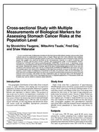 Cross-Sectional Study with Multiple Meas... by Tsugane, Shcoichiro