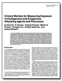Urinary Markers for Measuring Exposure t... by Prevost, Virginie