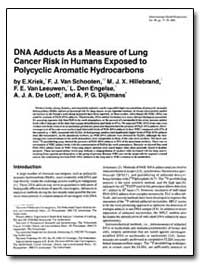 Dna Adducts as a Measure of Lung Cancer ... by Dijkmans, A. P. G.