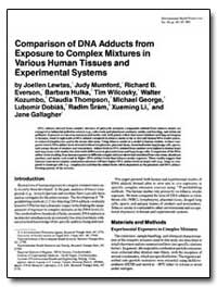 Comparison of Dna Adducts from Exposure ... by Lewtas, Joellen