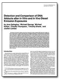 Detection and Comparison of Dna Adducts ... by Gallagher, Jane