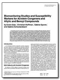 Biomonitoring Studies and Susceptibility... by Eder, Erwin