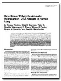 Detection of Polycyclic Aromatic Hydroca... by Weston, Ainsley