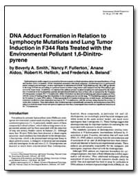 Dna Adduct Formation in Relation to Lymp... by Smith, Beverly A.