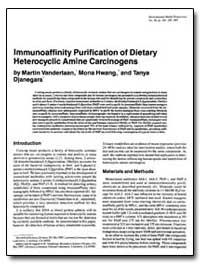 Lmmunoaffinity Purification of Dietary H... by Vanderlaan, Martin