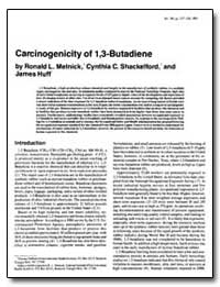 Carcinogenicity of 1, 3 : Butadiene by Melnick, Ronald L.