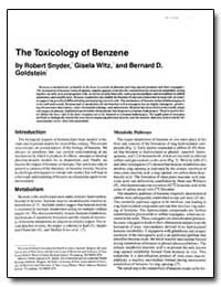 The Toxicology of Benzene by Snyder, Robert