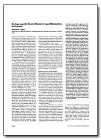 An Age-Specific Kinetic Model of Lead Me... by Leggett, Richard W.