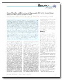 Cancer Mortality and Environmental Expos... by Cocco, Pierluigi
