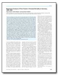 Regression Analysis of Time Trends in Pe... by Scherb, Hagen
