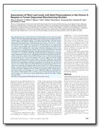 Associations of Tibial Lead Levels with ... by Schwartz, Brian S.