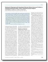 Embryonic Treatment with Xenobiotics Dis... by Sakata, Jon T.