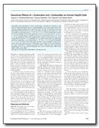 Genotoxic Effects of -Endosulfan and -En... by Takeshita, Tatsuya