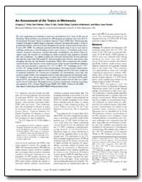 An Assessment of Air Toxics in Minnesota by Pratt, Gregory C.