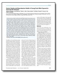 Semen Quality and Reproductive Health of... by Selevan, Sherry G.