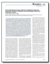 Human Cell Exposure Assays of Bacillus T... by Tayabali, Azam F.